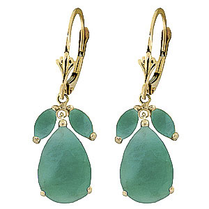 Emerald Drop Earrings 7 ctw in 9ct Gold