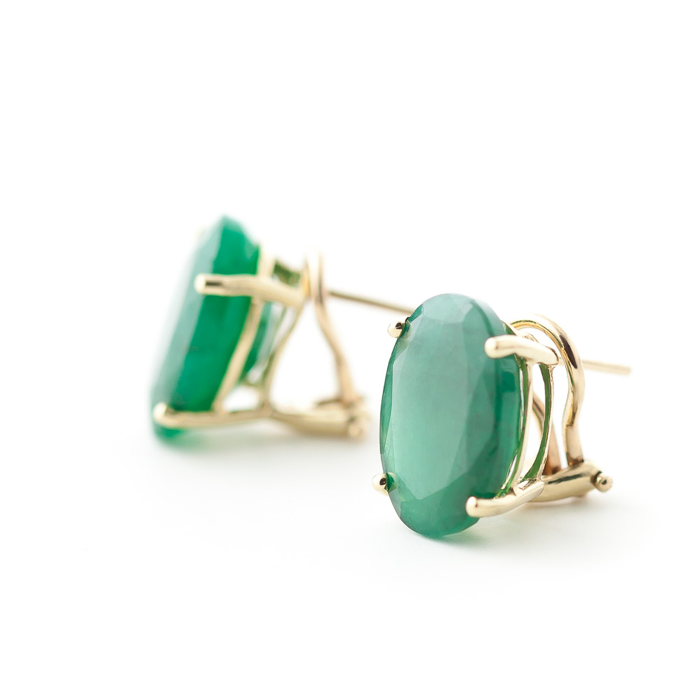 Emerald Stud Earrings 13 ctw in 9ct Gold