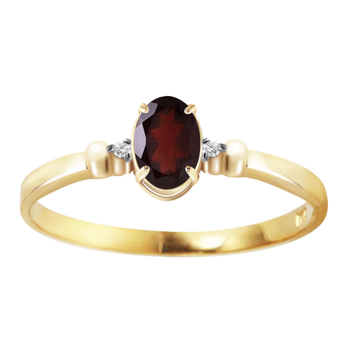Garnet & Diamond Allure Ring in 9ct Gold