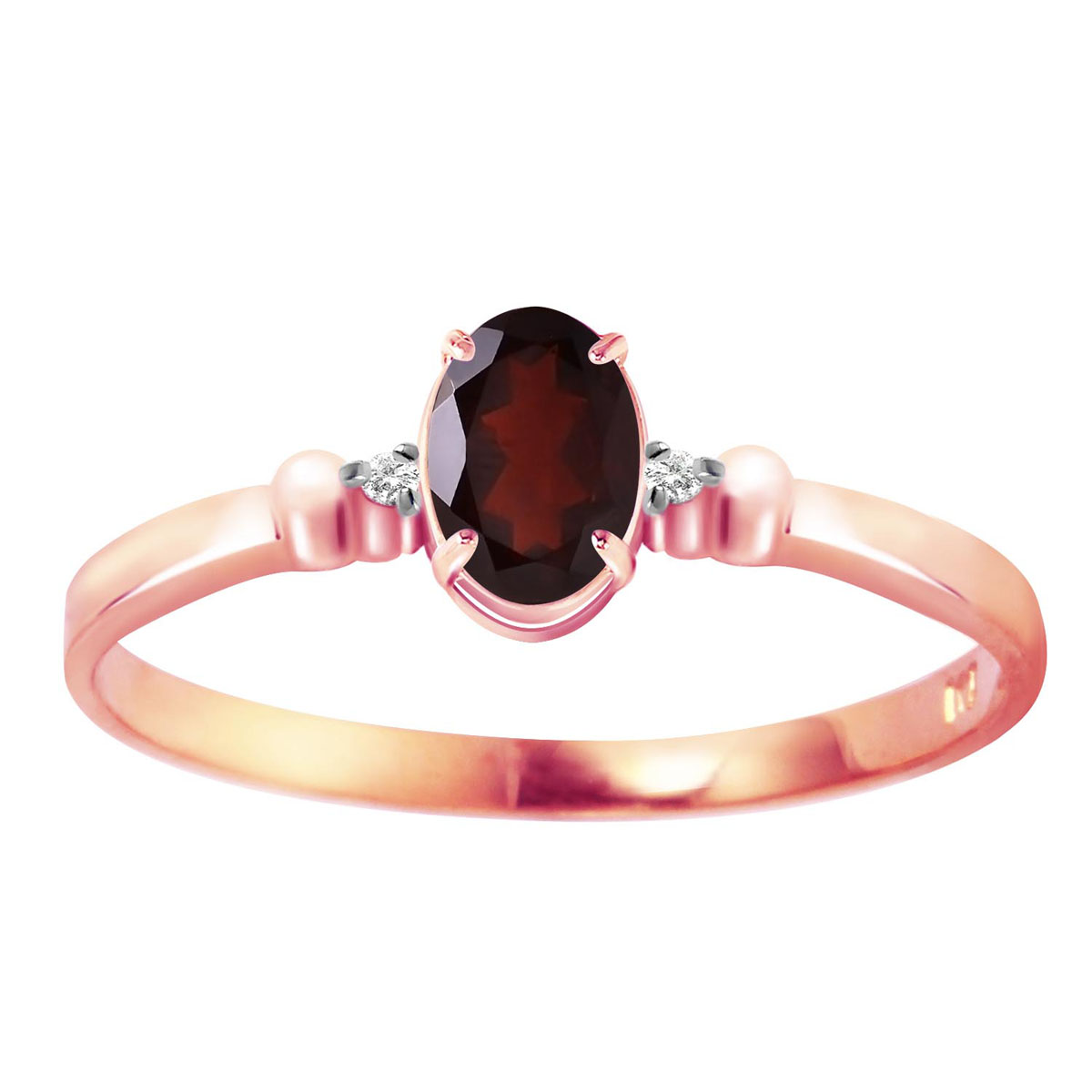 Garnet & Diamond Allure Ring in 18ct Rose Gold