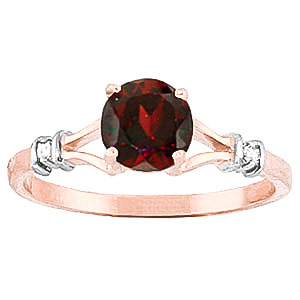 Garnet & Diamond Aspire Ring in 18ct Rose Gold