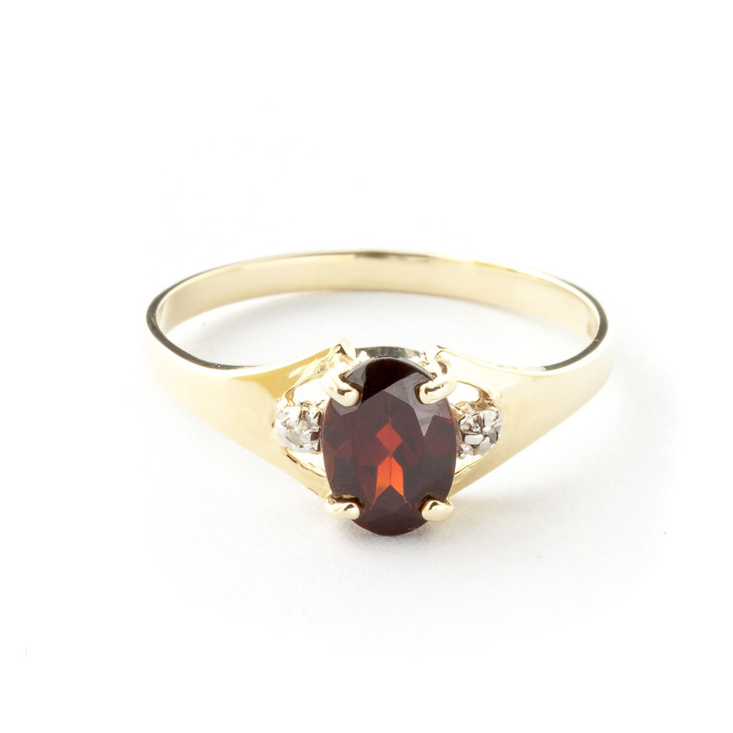 Garnet & Diamond Desire Ring in 9ct Gold