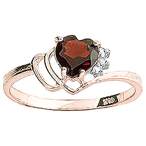 Garnet & Diamond Passion Ring in 18ct Rose Gold