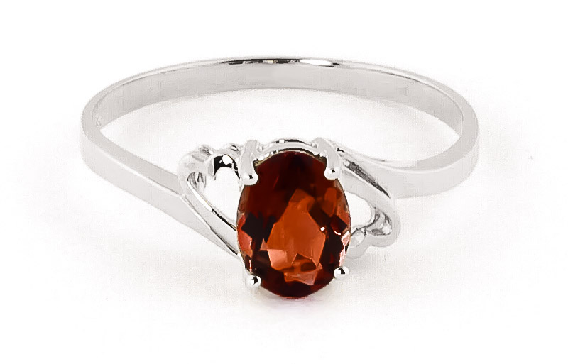 Garnet Classic Desire Ring 0.9 ct in 9ct White Gold