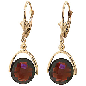 Garnet Drop Earrings 8.4 ctw in 9ct Gold