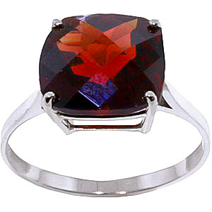 Garnet Rococo Ring 4.5 ct in 9ct White Gold