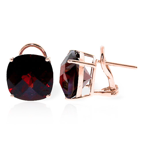 Garnet Stud Earrings 9 ctw in 9ct Rose Gold