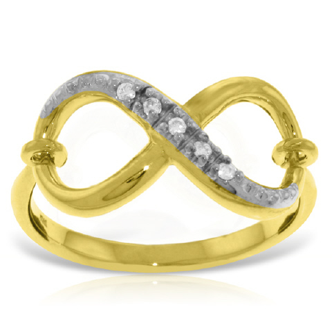 Diamond Infinite Ring in 9ct Gold