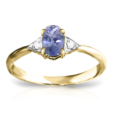 Tanzanite and Diamond Ring 0.4ct in 9ct Gold