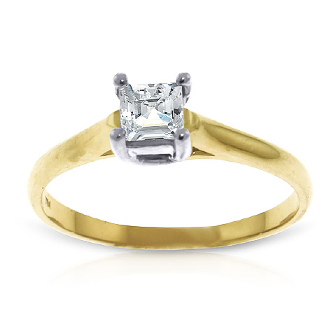 Princess Cut Diamond Solitaire Ring in 9ct Gold