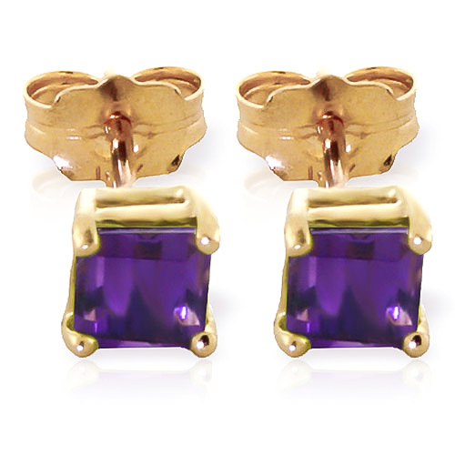 Amethyst Alexandra Stud Earrings 0.65ctw in 9ct Gold