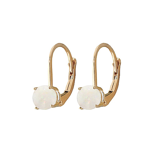 Opal Boston Drop Earrings 0.7ctw in 9ct Gold
