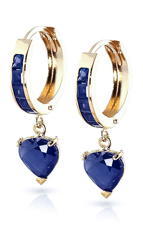 Sapphire Huggie Earrings 0.85ctw in 9ct Gold