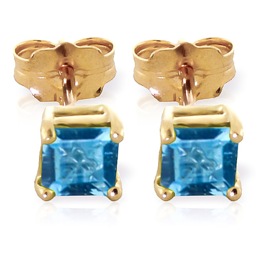 Blue Topaz Alexandra Stud Earrings 0.95ctw in 9ct Gold