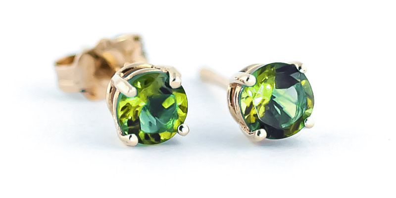 Peridot Stud Earrings 0.95ctw in 9ct Gold