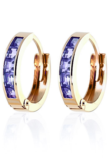 Tanzanite Huggie Earrings 0.95ctw in 9ct Gold