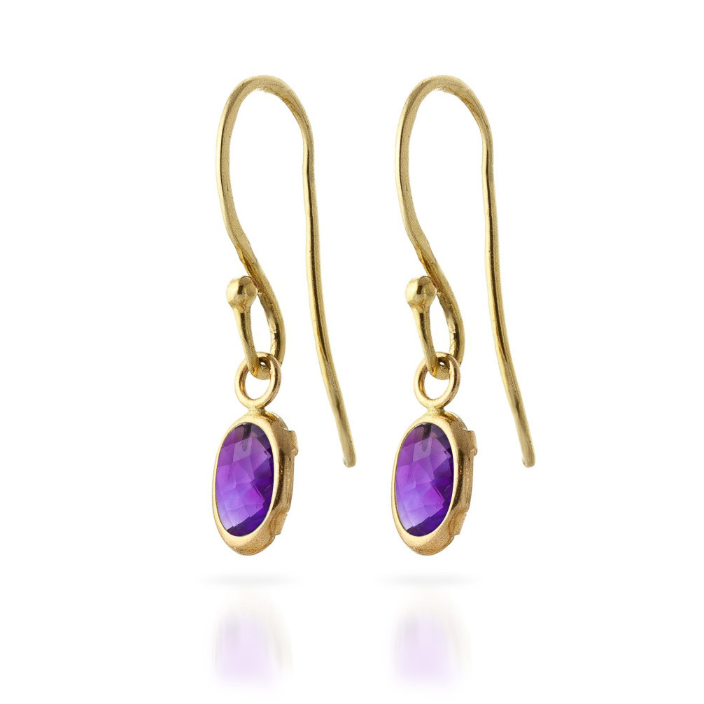 Amethyst Allure Drop Earrings 1.0ctw in 9ct Gold