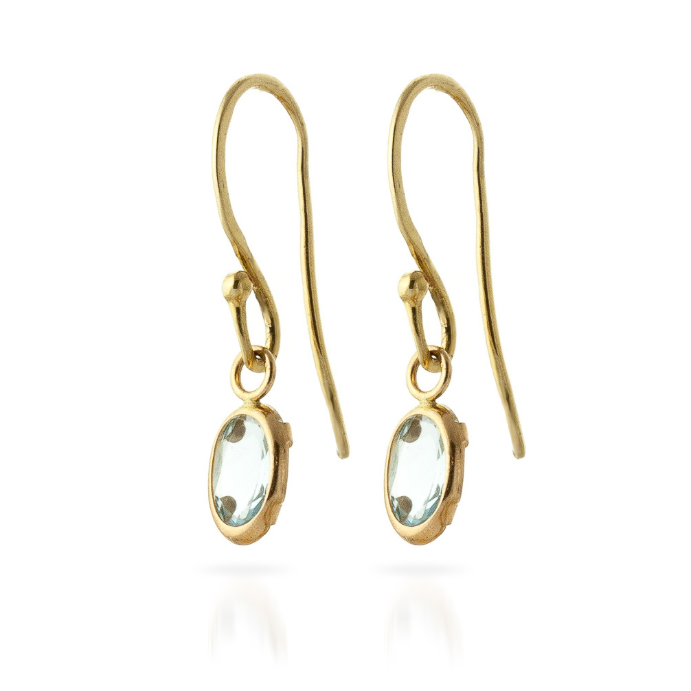 Aquamarine Allure Drop Earrings 1.0ctw in 9ct Gold