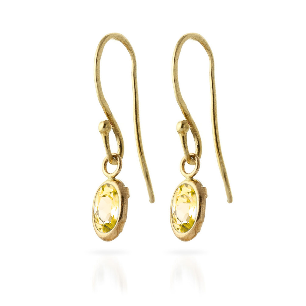 Citrine Allure Drop Earrings 1.0ctw in 9ct Gold