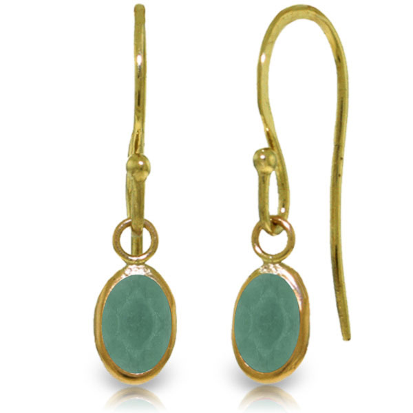 Emerald Drop Earrings 1.0ctw in 9ct Gold
