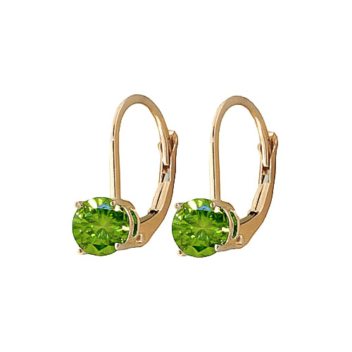 Green Diamond Boston Drop Earrings in 9ct Gold
