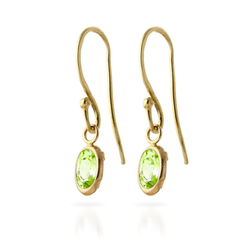 Peridot Allure Drop Earrings 1.0ctw in 9ct Gold