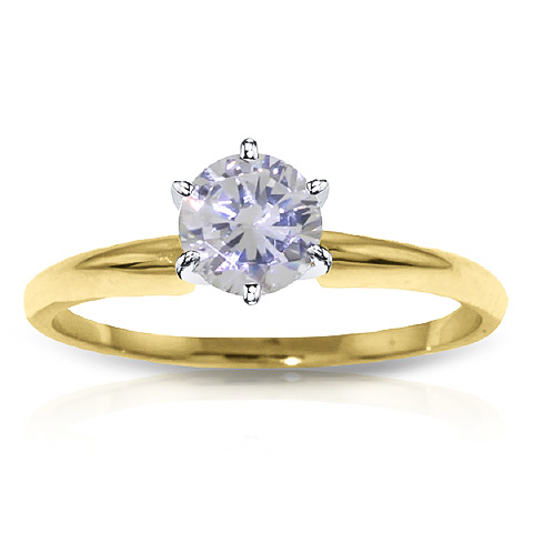 Round Brilliant Cut Diamond Solitaire Ring in 9ct Gold