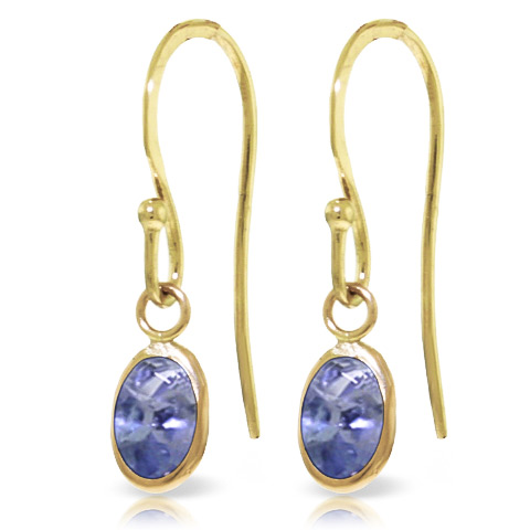 Tanzanite Drop Earrings 1.0ctw in 9ct Gold