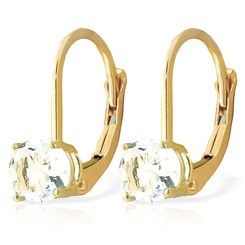Aquamarine Boston Drop Earrings 1.2ctw in 9ct Gold