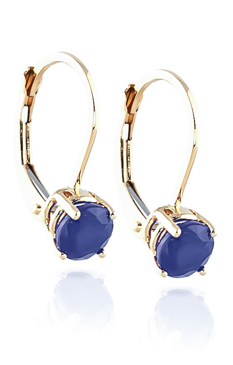Sapphire Boston Drop Earrings 1.2ctw in 9ct Gold