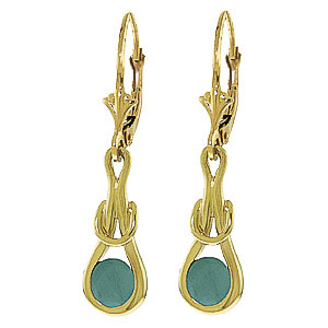 Emerald San Francisco Drop Earrings 1.3ctw in 9ct Gold