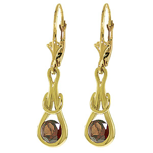 Garnet San Francisco Drop Earrings 1.3ctw in 9ct Gold