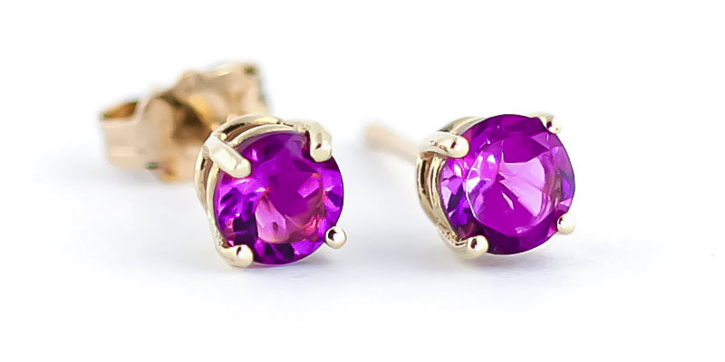 Pink Topaz Stud Earrings 1.3ctw in 9ct Gold