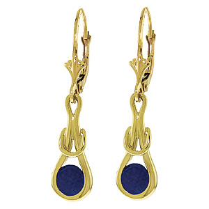 Sapphire San Francisco Drop Earrings 1.3ctw in 9ct Gold