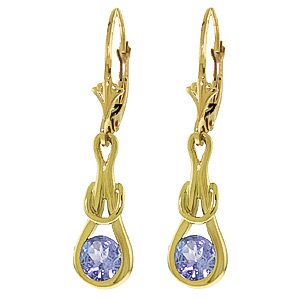 Tanzanite San Francisco Drop Earrings 1.3ctw in 9ct Gold