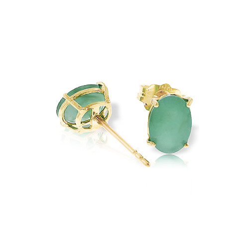 Emerald Stud Earrings 1.5ctw in 9ct Gold