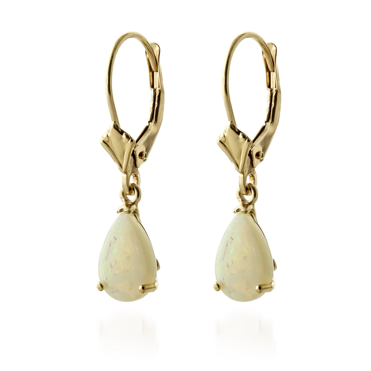 Opal Belle Drop Earrings 1.55ctw in 9ct Gold