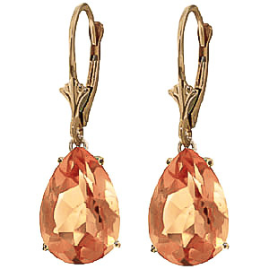 Citrine Drop Earrings 10.0ctw in 9ct Gold