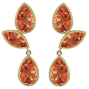 Citrine Petal Drop Earrings 13.0ctw in 9ct Gold