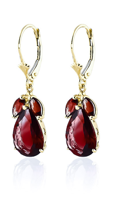 Garnet Drop Earrings 13.0ctw in 9ct Gold