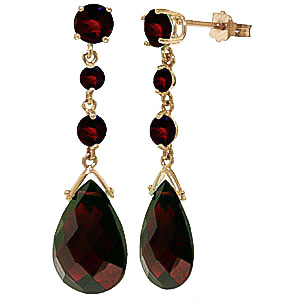 Garnet Pendulum Drop Earrings 13.2ctw in 9ct Gold
