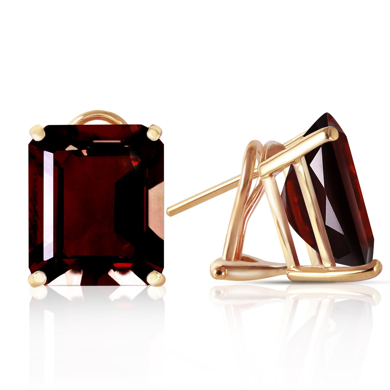 Garnet Stud Earrings 14.0ctw in 9ct Gold