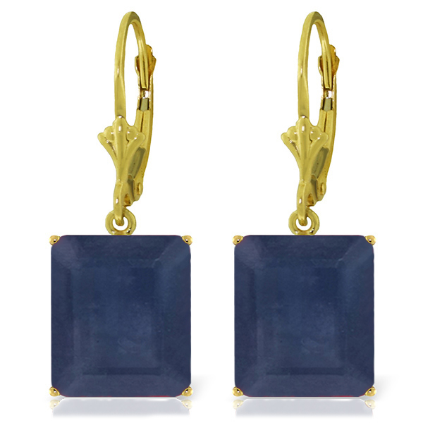 Sapphire Drop Earrings 14.0ctw in 9ct Gold