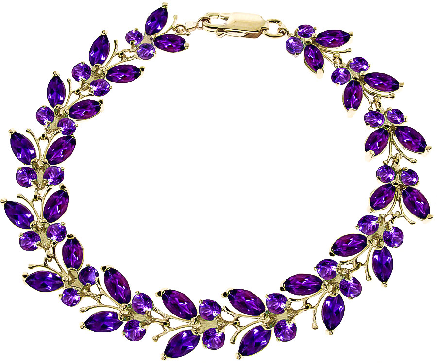 Amethyst Butterfly Bracelet 16.5ctw in 9ct Gold