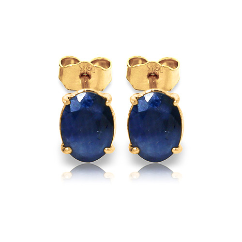 Sapphire Stud Earrings 2.0ctw in 9ct Gold
