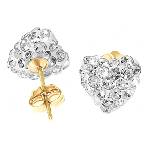 Cubic Zirconia Paris Stud Earrings 2.65ctw in 9ct Gold