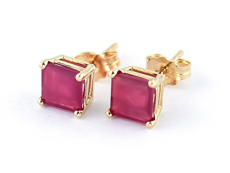 Ruby Alexandra Drop Earrings 2.9ctw in 9ct Gold