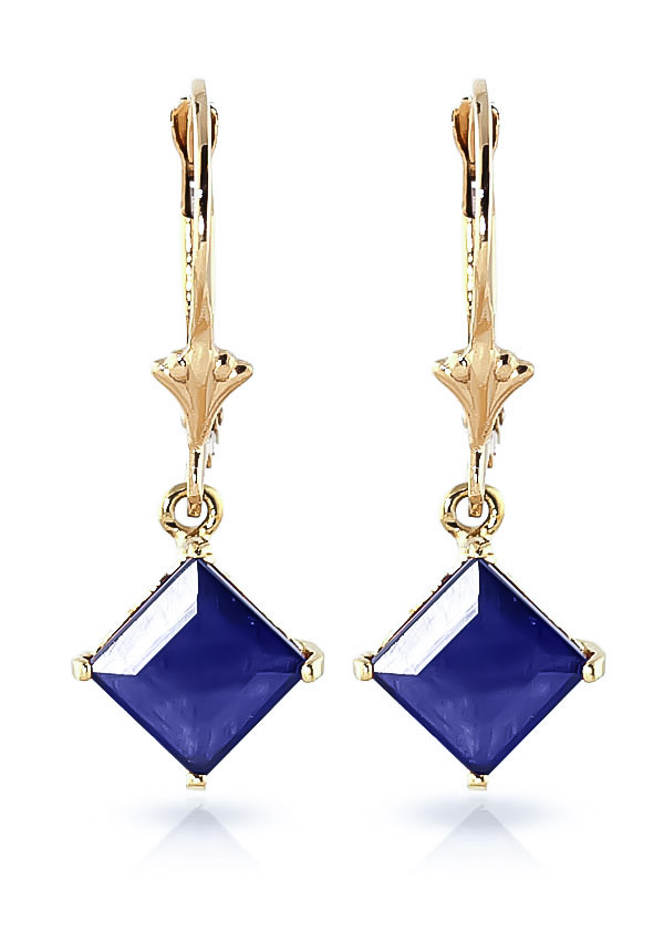 Sapphire Alexandra Drop Earrings 2.9ctw in 9ct Gold