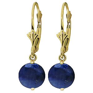Sapphire Drop Earrings 3.3ctw in 9ct Gold