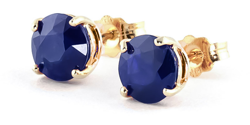 Sapphire Stud Earrings 3.3ctw in 9ct Gold